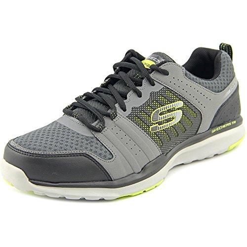 Skechers Sport Men's Quick Shift Tr Oxford Sneaker, Charcoal/Lime, 9.5 M US