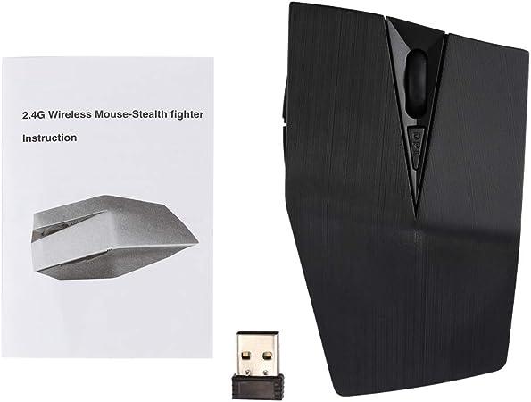 High Tech LYX 2.4GHz USB Receiver Adjustable 1200 DPI Wireless Optical Mouse for Computer PC Laptop Black Color : Black