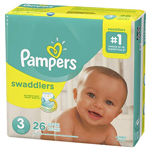 Diapers Size 3, 26 Count - Pampers Swaddlers Disposable Baby Diapers, Jumbo ()