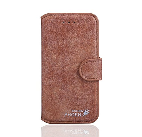 Distinct Luxury Fashion Stand Wallet Card Slot Leather Case Cover for Oneplus One(Brown)