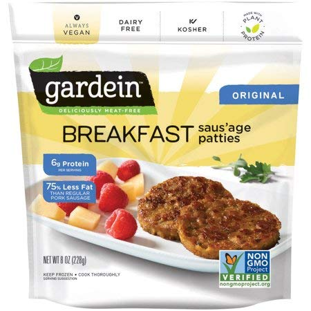 Gardein Vegan Breakfast Saus'age Patties 8 ounce (Pack of 8)