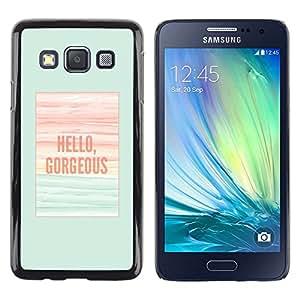Hola magnífico trullo poster Verano - Metal de aluminio y de plástico duro Caja del teléfono - Negro - Samsung Galaxy A3