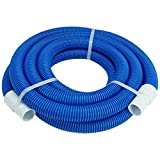Pool Central 24' Blue Blow Molded PE Vacuum Hose With White Cuffs