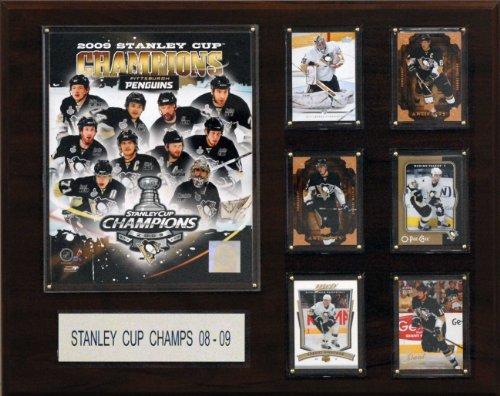 (NHL Penguins 2008-09 Stanley Cup Champions Plaque)