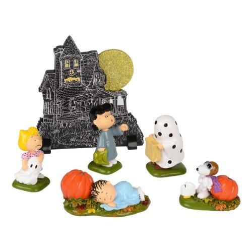 Department 56 Peanuts Haunted House Figurine (Set of (Haunted House Figurine)