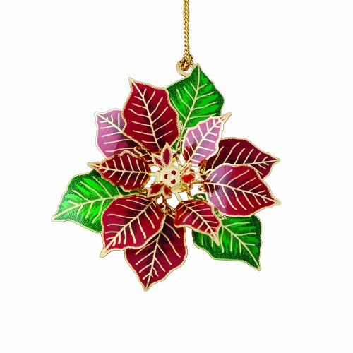 ChemArt Poinsettia Flower Ornament