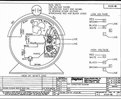 Motor PSC 3//4 HP 1725 115//230V 48Z OAO Dayton 4YU29