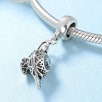 XSZPKL Moda 925 Plata esterlina Sorprendente lámpara de Aladino Colgantes encantos Fit Pulsera Original Perlas joyería de Las Mujeres