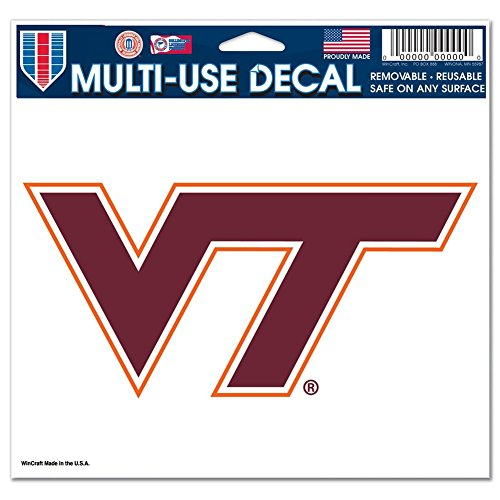 NCAA Virginia Tech Multi-Use Colored Decal, 5