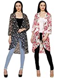 2Day Womens Stylish Georgette Long Shrug Pack of 2 (X-Large)