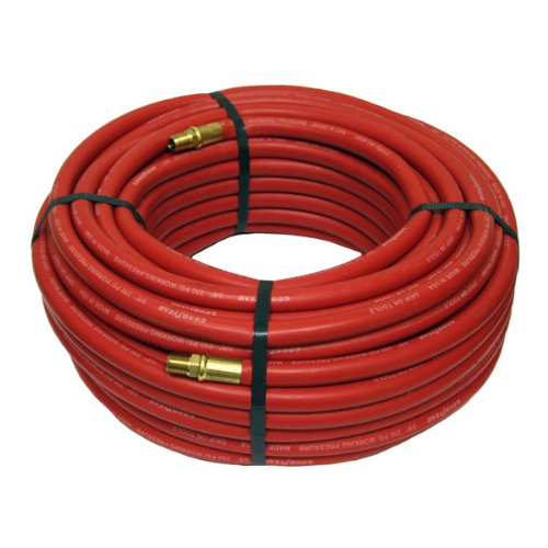 Red Rubber Air Hose 100 Ft x 3/8 Inch (Goodyear 100ft Air Hose)