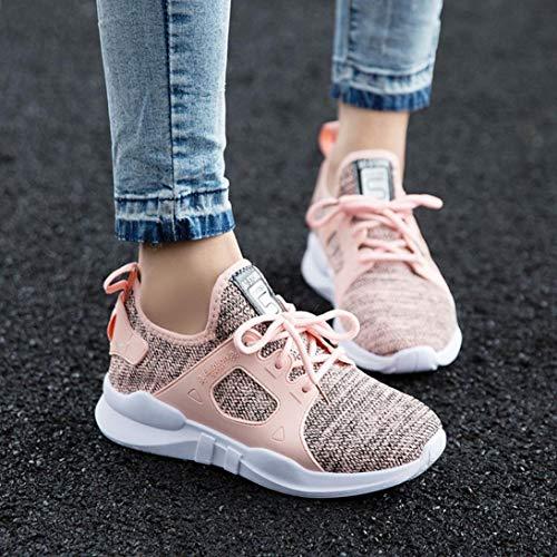 Aire Libre Running Primavera Oto Para O Calzado Qinmm De Transpirables Cordones Mujer Verano Zapatillas Con Rosado Zapatos Y Mallas Gym Deportes FE5ggqB