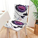 Mikihome Beautiful Chair Cushion The Dead Decor Sugar Skull Girl Face with Make Up Hand Drawn Mexican Indoor and Outdoor Cushion Mat:W17 x H17/Backrest:W17 x H36