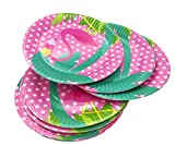 7'' Flamingos Paper Party Plates 24Pcs/set, KOOTIPS Includes Top Popular Flamingos | Perfect for Birthdays, Parties, Crafts, Prizes, and Games (Round)