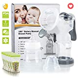 Manual Breast Pump Milk Saver with Baby Bottle and 6Pcs Breast Milk Storage
