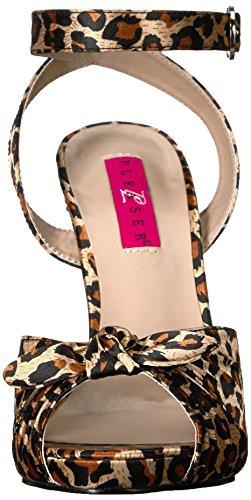 Pleaser Pink Label Eve-01 - Plataforma Mujer Brown (Cheetah Satin)