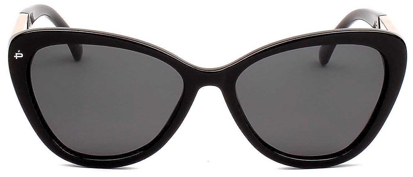 "6c8e5a19b19 Amazon.com  PRIVÉ REVAUX ICON Collection ""The Hepburn"" Designer Polarized  Retro Cat-Eye Sunglasses  Clothing"
