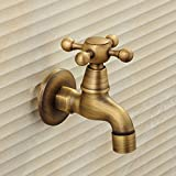 YanCui@ Antique MOP MOP pool 4 pool water copper single cold balcony wall-mounted quick-open the tap
