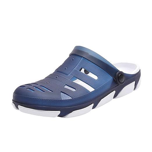 14f3a49abca4 Sumen Mens Garden Clogs Anti-Slip Beach Shower Sandals Slip on ...