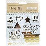 La De Dah Sticker Flip Book - Metallic Gold Foil