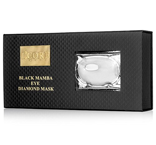 L'core Paris Eye Mask - Diamond Black Mamba Signature Collection 2016 - Size 1 unit, contains 8 masks, makes your face younger, silkier, smoother and healthier. by L'core paris (Image #4)