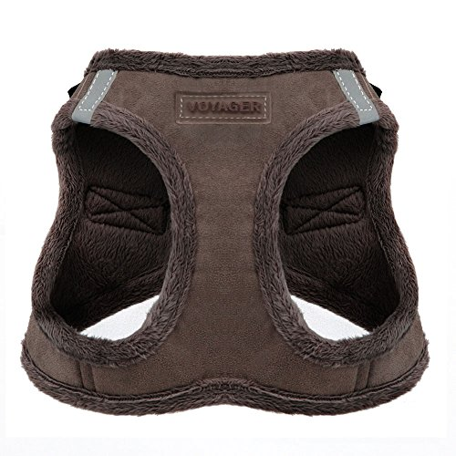 Voyager Soft Harness for Pets - No Pull Vest, Best Pet Supplies, Small, Chocolate Suede