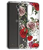 lg 3 bumper - LG Stylo 3 Case, LG Stylo 3 Plus Case, LG Stylus 3 Case with flowers, BAISRKE Slim Shockproof Clear Floral Pattern Soft Flexible TPU Back Cove for LG Stylo 3/Stylo 3 Plus/LG LS777 [Rose Blossom]