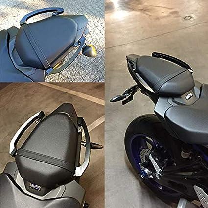 ETbotu Motorbike Rear Grab Bars Rear Seat Pillion Passenger Grab Rail Handle for Motorcycle Yamaha MT-07 FZ-07 2014-2016 gray