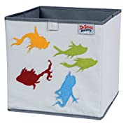 Trend Lab Dr. Seuss Fish Storage Bin, Yellow/Green/Red/Blue/Gray