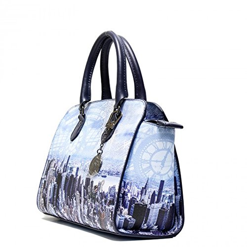 Y NOT? borsa donna ART. H-348 BLU MANHATTAN