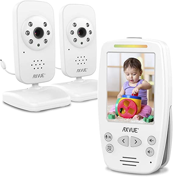 Amazon.com: AXVUE Video Baby Monitor with Two Cameras and Comfort-Designed  Screen, Model E662.: Toys & Games