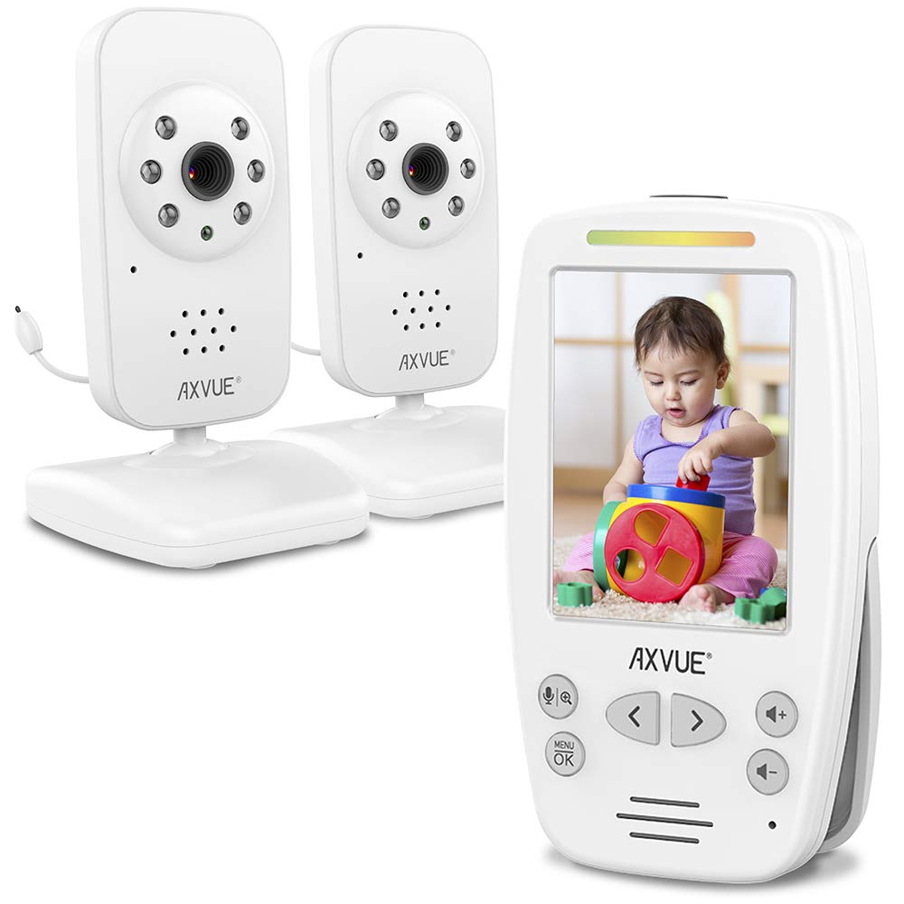 Video Baby Monitor with Two Cameras and Comfort-Designed Screen by Axvue, Model E662. by Axvue
