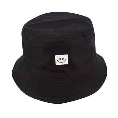 1d375a213fd Doingshop Fashion Packable Reversible Smiley Face Printed Unisex Fisherman  Bucket Sun Hat (Black)  Amazon.co.uk  Clothing