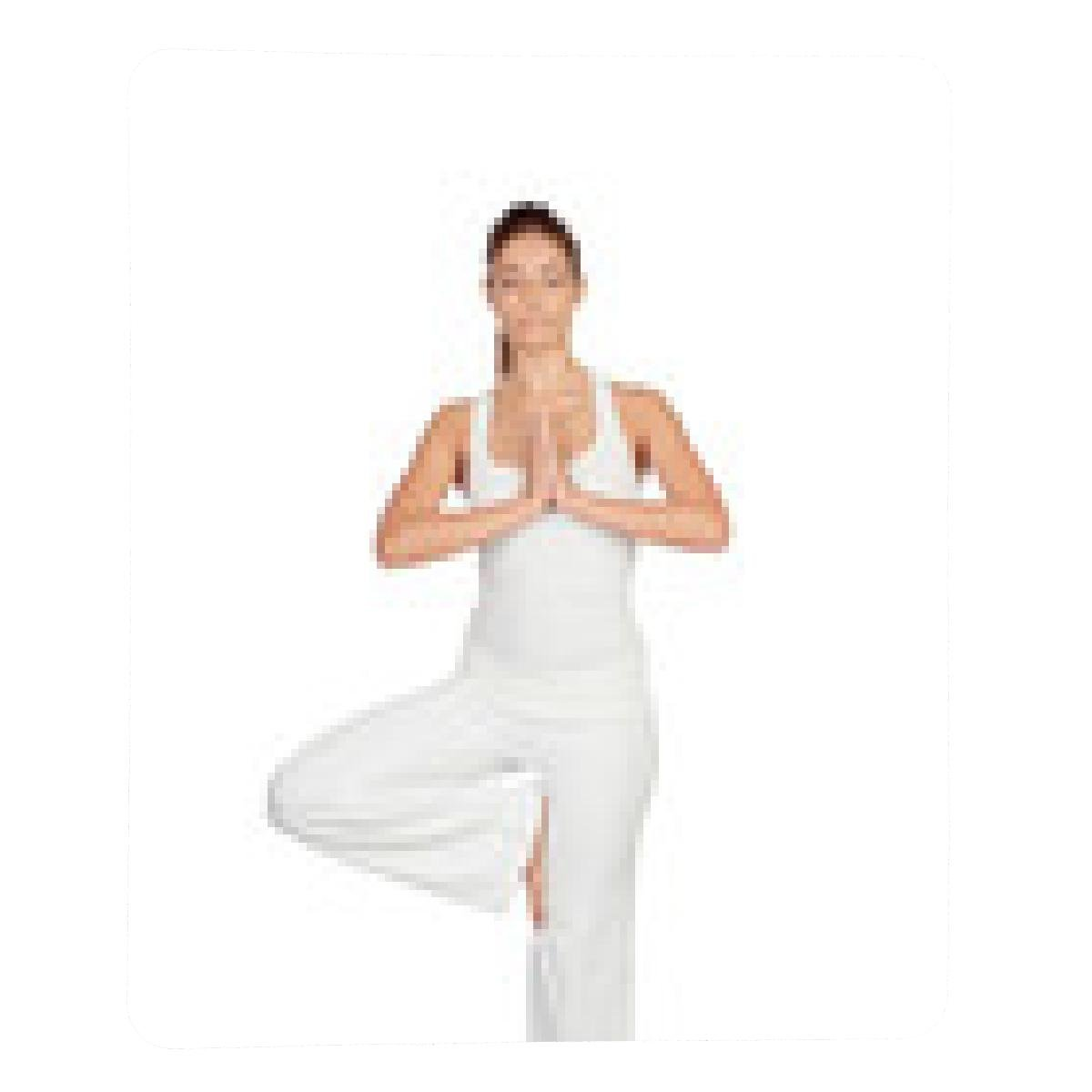 alfombrilla de ratón Hermosa mujer haciendo yoga: Amazon.es ...