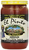 salsa el pinto - El Pinto Red Chile Sauce, Medium, 16 Ounce (Pack of 6)