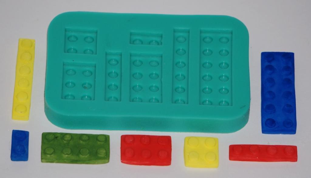 Sugarcraft de caucho de silicona Moldes Cake Decoración de resina Moldes Oficios engelamiento Building Blocks Ladrillos: Amazon.es: Hogar