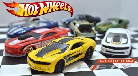 Hot Wheels Camaro Fifty 1967-2017 Exclusive 8 Car Set