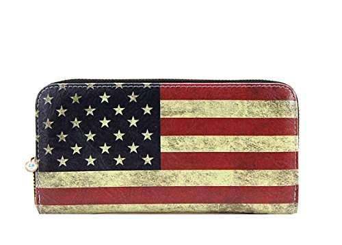 American-Flag-Large-Purse-Wallet-Set-Vintage-US-Flag-Tote-Style