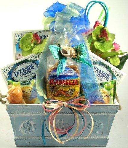 Amazon.com : Just Beachy, Tropical Gift Baskets - Beach Gift ...