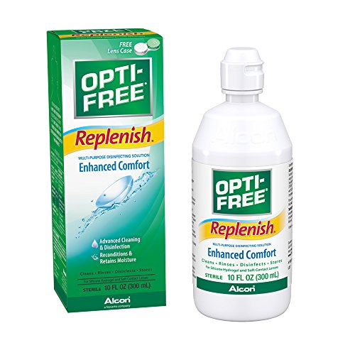 Opti-Free Replenish Multi-Purpose Disinfecting Solution with Lens Case, (Opti Free Replenish)