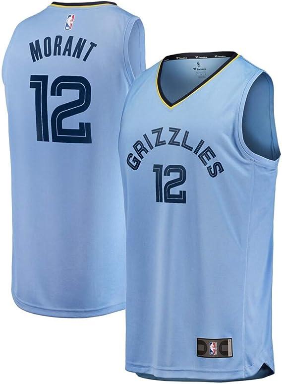 Vancouver Grizzlies NO.12 Icon Edition Swingman Jersey Player Edition Fan Polyester Fiber Respirant Basketball Jersey ja morant Jersey