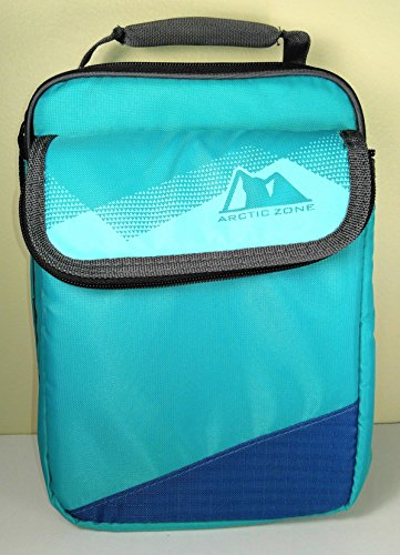 Expandable HardCore Lunch Pack Box- Newest Colors! (Teal with Black Trim)