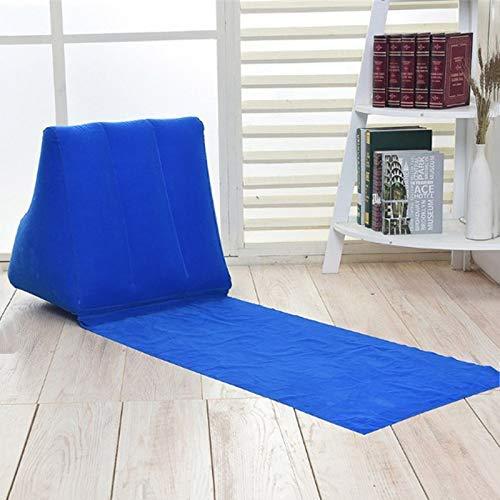 Small Azul eamqrkt Hinchable Playa Tumbona Mate Coj/ín PVC Suave Ocio Asiento Silla para Camping Exterior