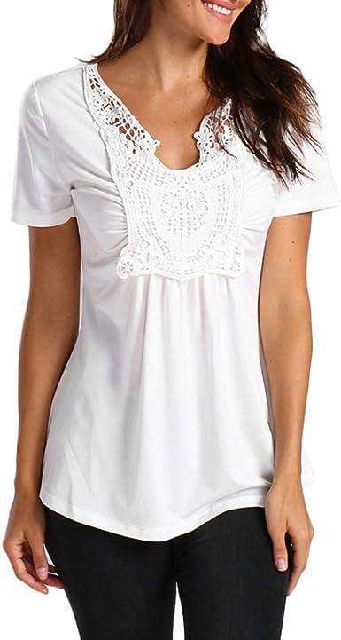 Laisla fashion Blusas Mujer Verano Oversize Camisas Anchas ...