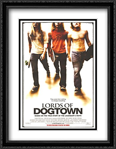- Lords of Dogtown 28x36 Double Matted Large Black Ornate Framed Movie Poster Art Print