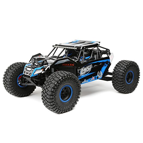 Losi 1/10 2.2 Rock Rey 4WD RC Rock Racer Brushless RTR with AVC and 2800Kv Brushless Power System (Battery and Charger Not Included), Blue