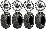 Bundle - 9 Items: STI HD6 14'' Wheels Machined 30'' BigHorn Tires [4x137 Bolt Pattern 12mmx1.25 Lug Kit]