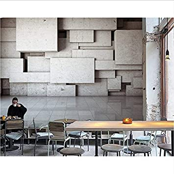 Weaeo Personalizado Mural Moderno Minimalista 3D Cemento ...