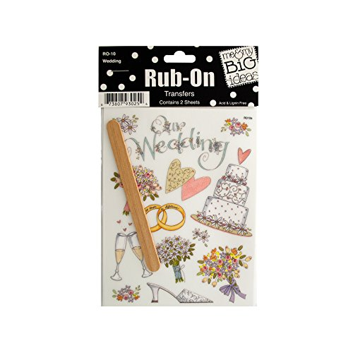 123-Wholesale Set of 48 Wedding Rub-On Transfers - Scrapbooking Rub-ons by 123-Wholesale
