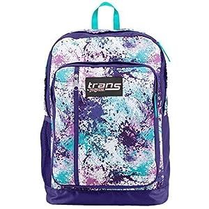 Trans Jansport Megahertz Laptop Backpack Purple Turquoise Blue White Pink Spl...